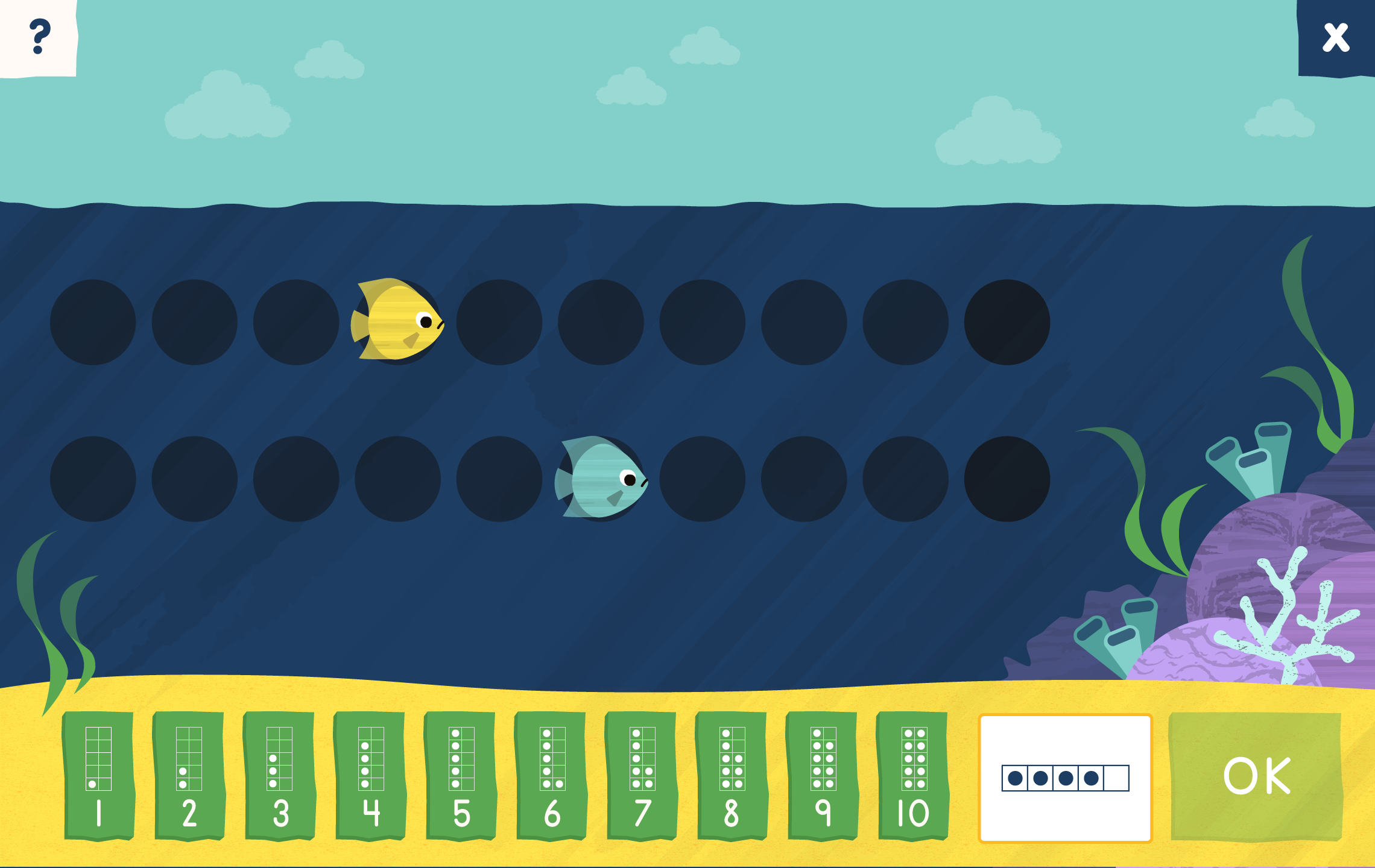 A screenshot of the number path game for Connect4Learning