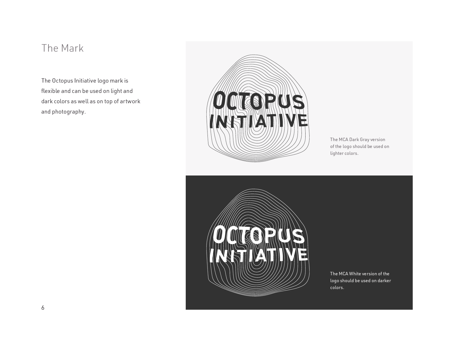 The Octopus Initiative Brand Guidelines - Page 6