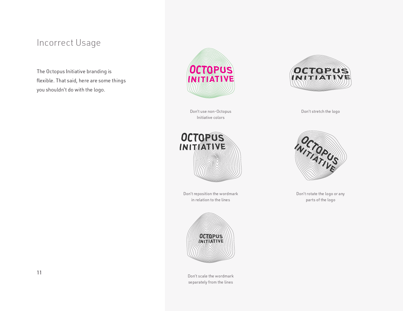 The Octopus Initiative Brand Guidelines - Page 11