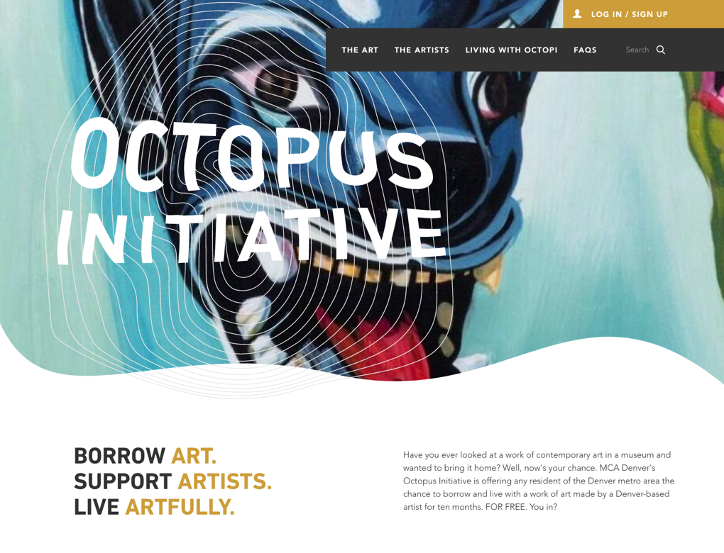 A screenshot of the Octopus Initiative home page