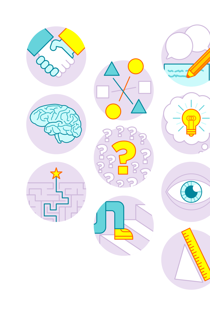 Icons created for the Connect4Learning marketing site
