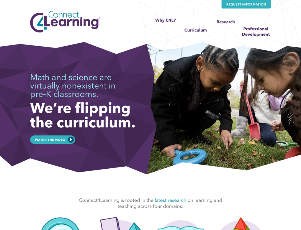 Connect4Learning's home page