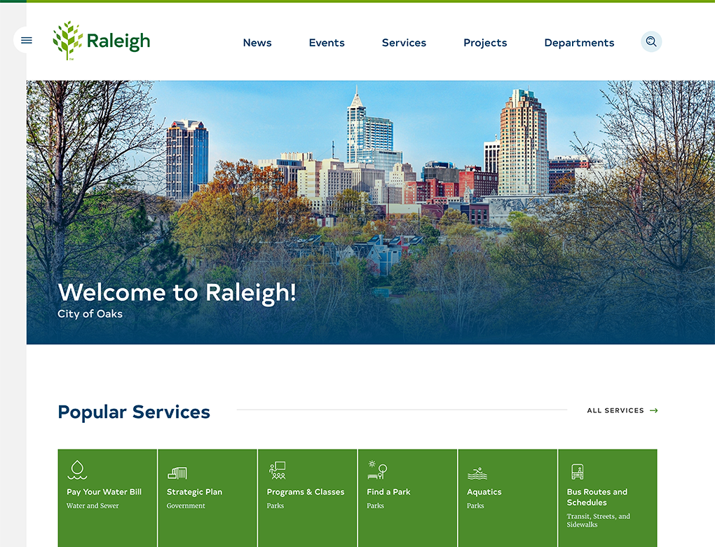 City of Raleigh Home Page