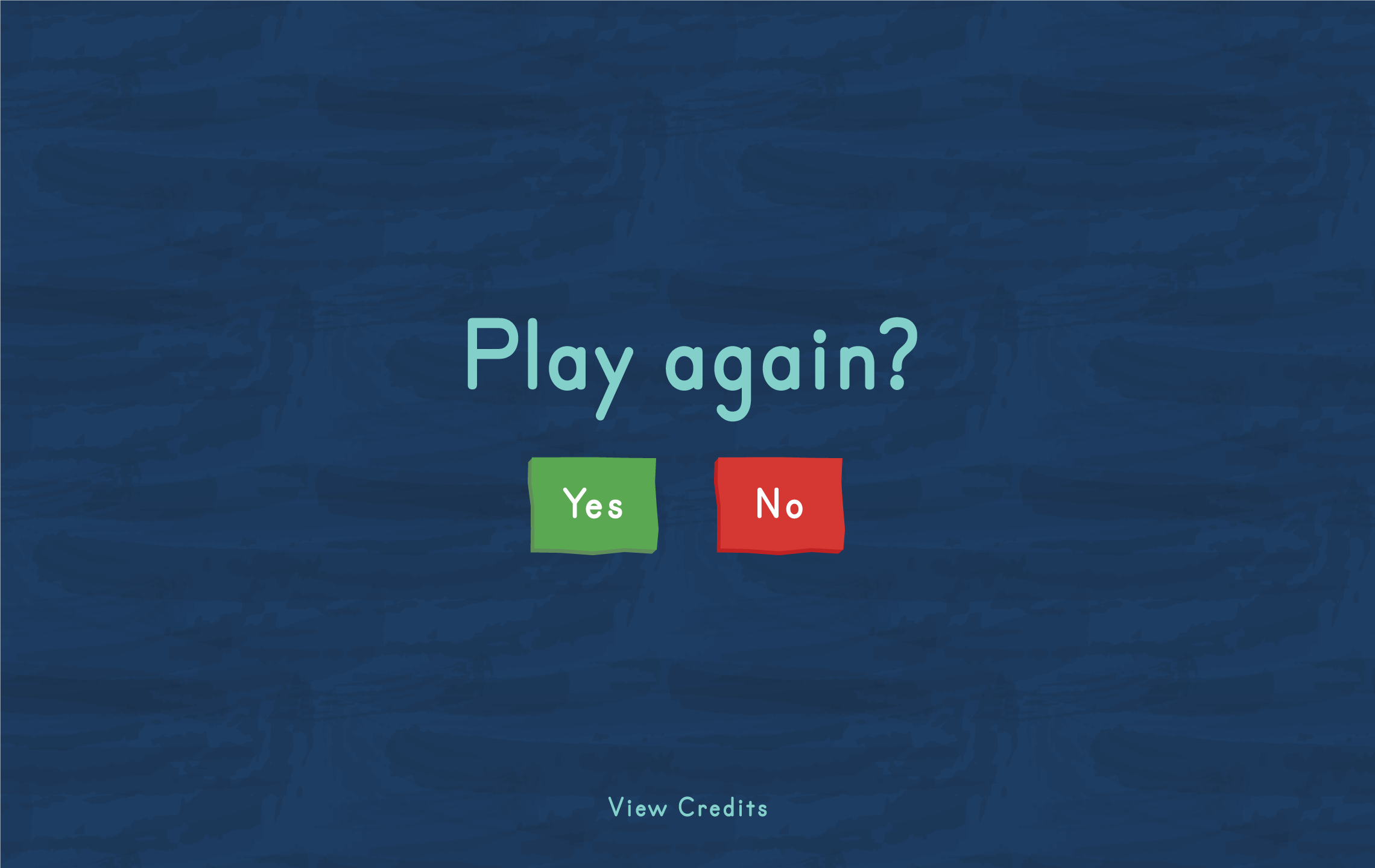 Connect4Learning's play again screen with green yes button and red no button