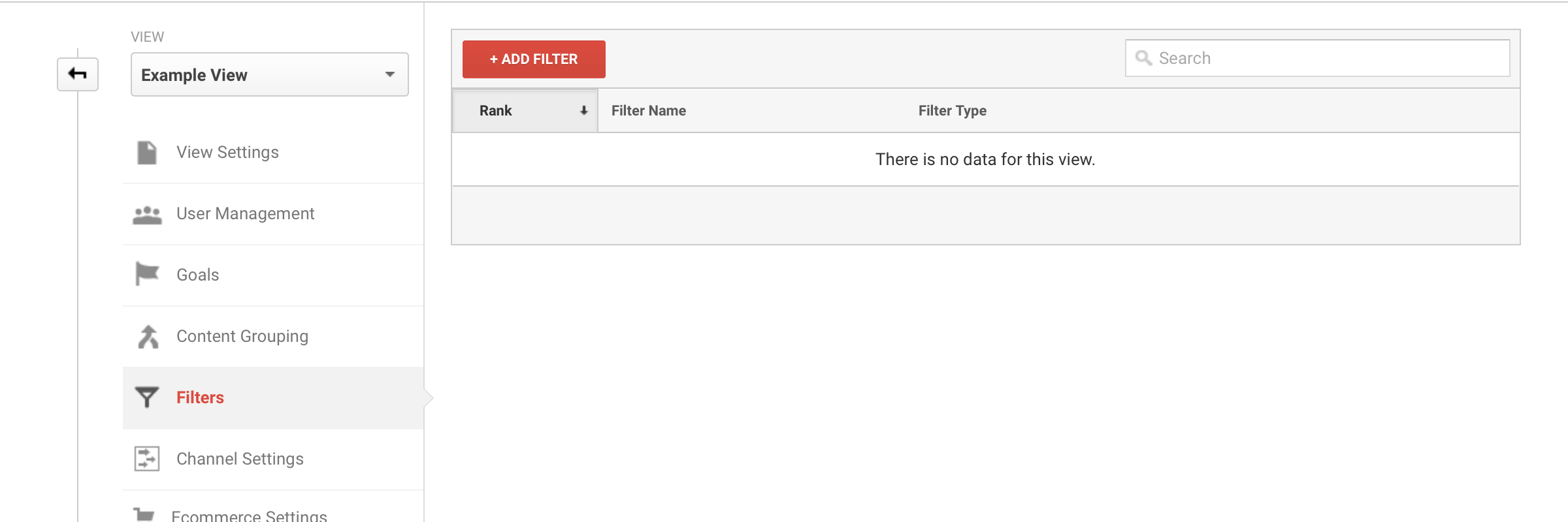 Google Analytics, add Filter