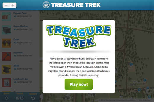 Colonial Williamsburg's Treasure Trek